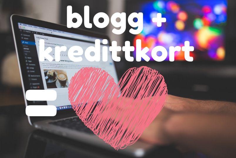 blogg + kredittkort
