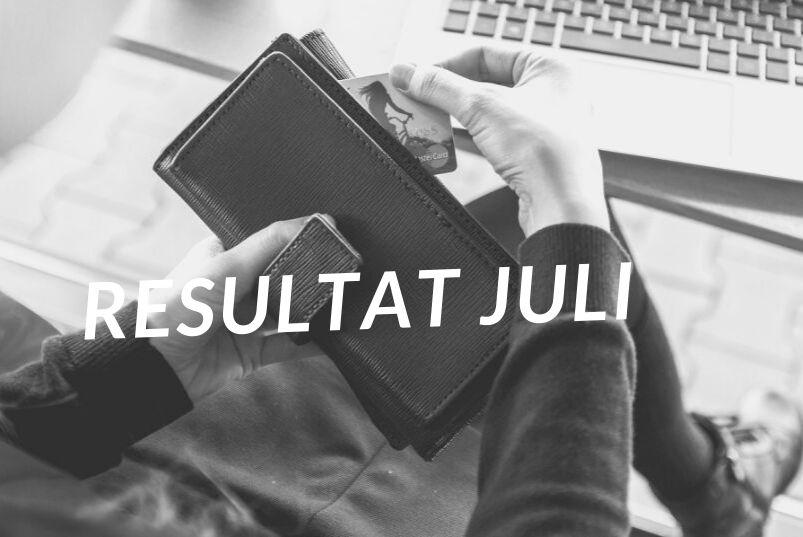 Resultatet for Juli 2019