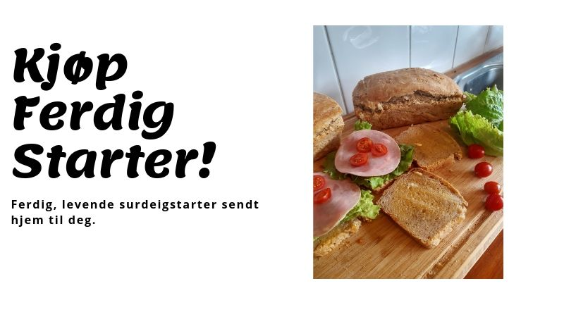 Kjøp surdeigstarter og bak billige & deilige surdeigsbrød!