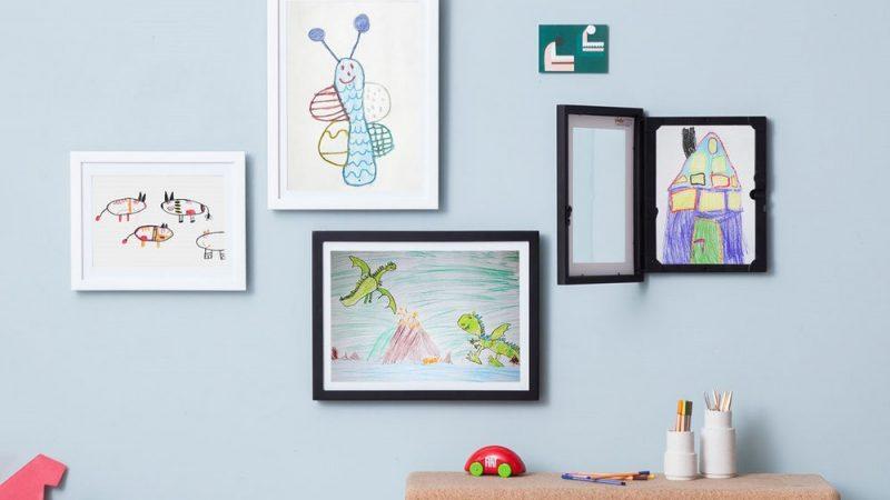 Genial Tegningsramme – Vis enkelt frem tegningene til barna